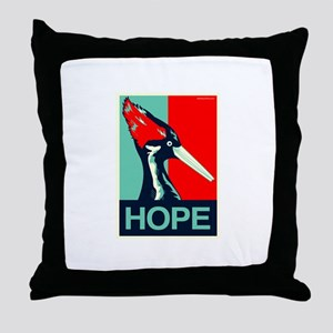 Ivory-Billed Hope Throw Pillow