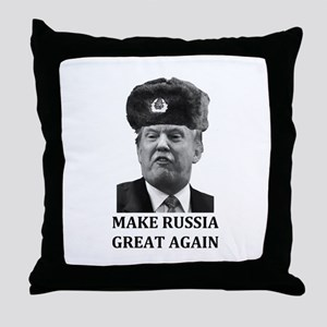 Make Russia Great Again Throw Pillow