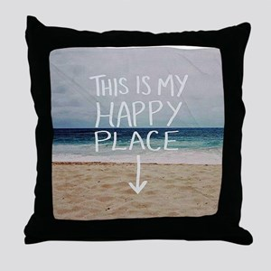 This Is My Happy Place Throw Pillow