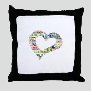 heart fulfilled Throw Pillow