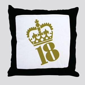 18th Birthday Throw Pillow