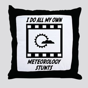 Meteorology Stunts Throw Pillow