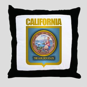 """California Gold"" Throw Pillow"