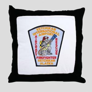 Ketchikan Airport Fire Throw Pillow