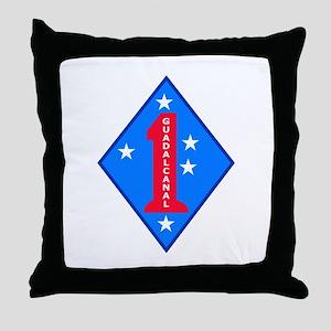 HQ Battalion - 1st Marine Division Throw Pillow