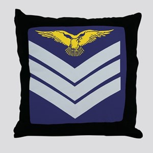 3-RAF-Sergeant-Aircrew-Sticker-2 Throw Pillow