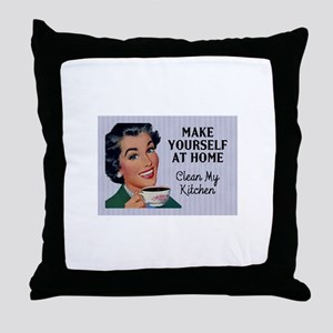 Make Yourself At Home Throw Pillow