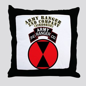 SOF - Army Ranger - 2nd Company Throw Pillow