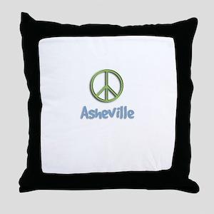Peace Asheville Throw Pillow
