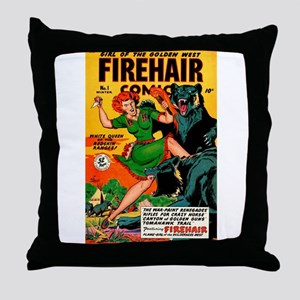Redhead Warrior Woman Throw Pillow