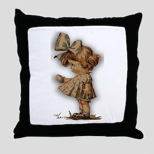 antique easter Throw Pillow