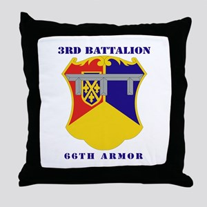 DUI - 3rd Battalion, 66th Armor with Text Throw Pi