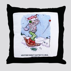 Weather Doesn't Matter Golfer Throw Pillow
