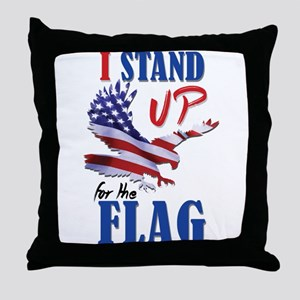 Keeling? Stand Up For The Flag! Throw Pillow