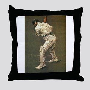 cricket art Throw Pillow