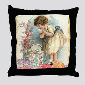 victorian easter Throw Pillow