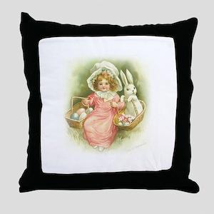 """Cute Easter Bunny"" Throw Pillow"