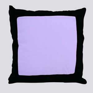 girly modern lilac purple  Throw Pillow
