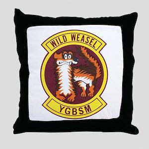 Wild Weasel Throw Pillow
