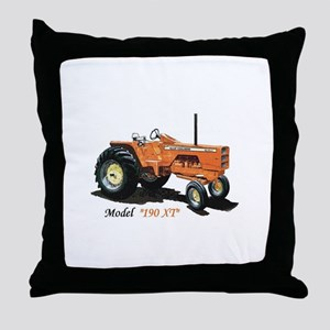Antique Tractors Throw Pillow