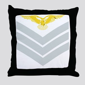 RAF-Sergeant-Aircrew-Black-Shirt-2 Throw Pillow
