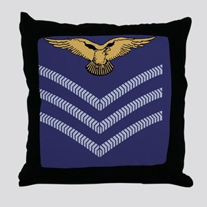 RAF-Sergeant-Aircrew-Greeting-1 Throw Pillow