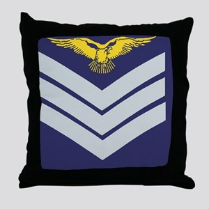 3-RAF-Sergeant-Aircrew-Greeting-2 Throw Pillow
