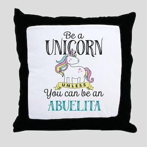 Unicorn ABUELITA Throw Pillow