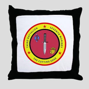 3rd Battalion 7th Marines Throw Pillow