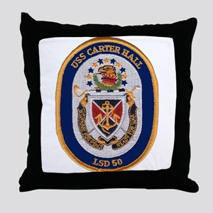 USS Carter Hall LSD 50 Throw Pillow