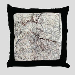 Vintage Map of Arizona (1911) Throw Pillow