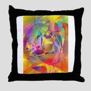 Abstract Banana Throw Pillow