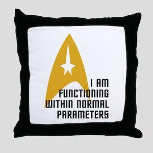 Star Trek - Normal Parameters Throw Pillow