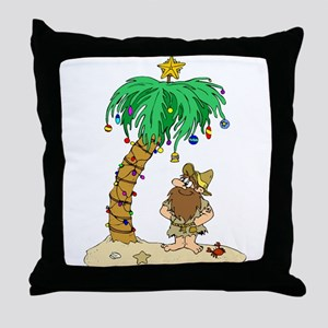 Desert Island Christmas Throw Pillow