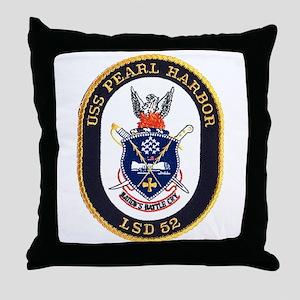USS Pearl Harbor LSD 52 Throw Pillow