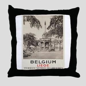 Vintage poster - Liege Throw Pillow