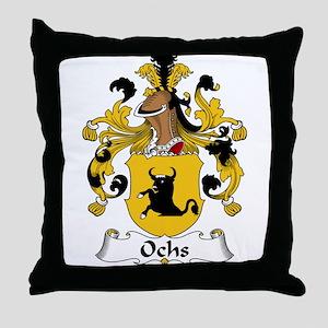 Ochs Family Crest Throw Pillow