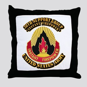 38th Support Group with Text Throw Pillow