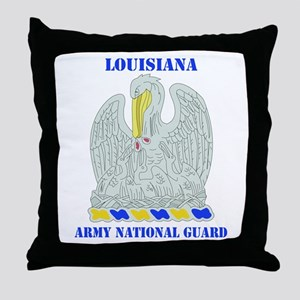 DUI-LOUISIANA ANG WITH TEXT Throw Pillow