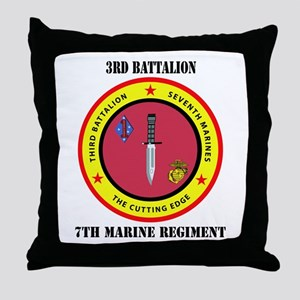 2nd Battalion 7th Marines Throw Pillow