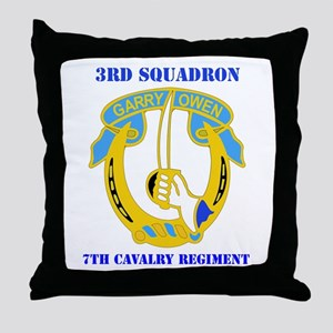 DUI - 3rd Sqdrn - 7th Cavalry Regt with Text Throw