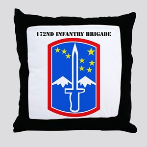 SSI-172nd Infantry Brigade with text Throw Pillow
