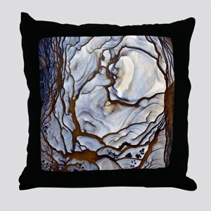 Blue Biggs Jasper stone Throw Pillow