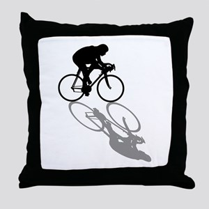 Cycling Bike Throw Pillow