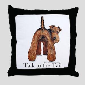 Airedale Terrier Talk Throw Pillow