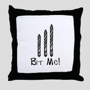 Bit Me Throw Pillow