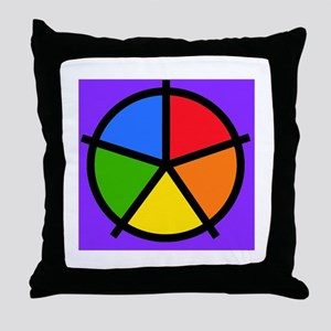 Fat Fetish Rainbow Wedges Throw Pillow