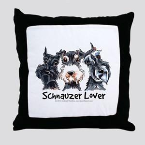 Miniature Schnauzer Lover Throw Pillow