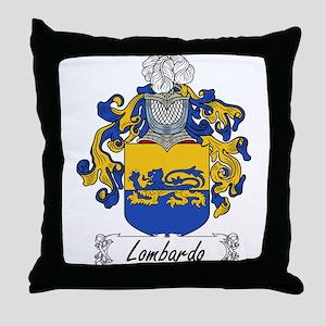 Lombardo Family Crest Throw Pillow