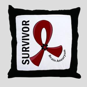 Brain Aneurysm Survivor 12 Throw Pillow